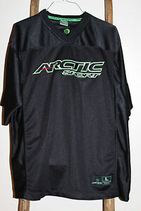ARCTIC CAT Sport~BLACK~Mesh~Snowmobile JERSEY~#68~SHORT SLEEVE~Size LARGE~NICE!