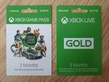 XBOX 3 Months Game Pass & XBOX 3 Months Gold Subscription (Brand New Retail)