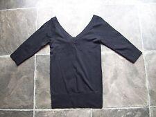 BNWT Women's Black Seamfree 3/4 Sleeve V-Neck Sports Top Size 10