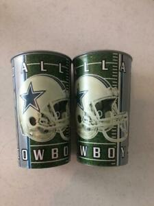 2 Count Lot NEW Dallas Cowboys 16 oz Tumblers - Hard Plastic - NFL Licensed