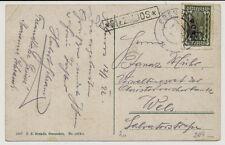 1922 KARTE, EBEN im PONGAU nach WELS