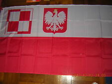 New listing Flag of Poland Air Force in Britain and France Polish Air Force Wwii Ensign 3X5