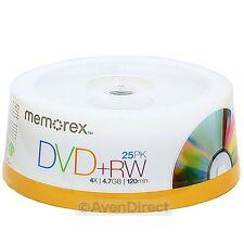 25 Pack New Memorex 4X Rewritable 4.7GB DVD+RW Plus R [FREE USPS Priority Mail]