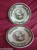 2 MAYER CHINA STRATFORD PLATES art deco PEACOCK RESTAURANT WARE ANTIQUE SALAD