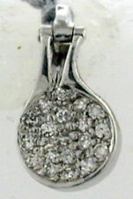 14K WHITE GOLD ENHANCER/PENDANT WITH 22 DIAMONDS