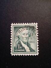 U.S. Postage timbro Springfield Raro1 cent G.Washington 1954