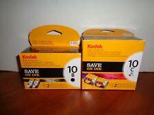 Lot of Genuine Kodak Ink 2-10B Black (425) & 2-10C Color (2×420) Ink Cartridges