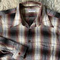 McGregor Vintage 60s Large Shadow Plaid Shirt Rockabilly Square