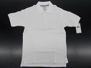 Boys French Toast Uniform/Casual White Polo Shirt Husky Size 10H - 14H