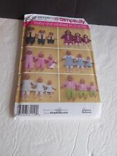 Simplicity 3572 Baby Doll Clothes in 3 Sizes S, M, L UNCUT