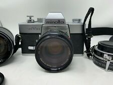 Minolta SRT 101 35mm SLR Camera With extra lenses