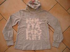 (181) Nolita Pocket Girls Shirt geraffter Kragen Logo Druck + Pailletten gr.140