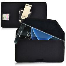 Turtleback Galaxy S7 Edge Nylon Black Pouch Holster Phone Case Metal Belt Clip