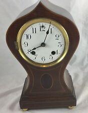 American Mahogany Balloon Clock By Ansonia Clock Company New York USA