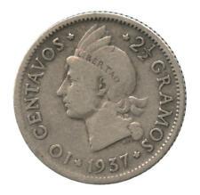 1937 Dominican Republic Silver 10 Centavos