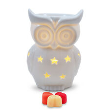 Owlchemy Snowy Owl Electric wax burner  (tart warmer) with light & winter scents