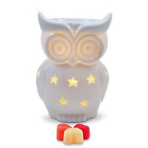 Owlchemy Snowy Owl Electric wax burner  (tart warmer) with light & winter scents