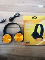 Casque Bluetooth Sans Fil 4.0 Extra Bass Pliable Ajustable Anti Bruit Neuf