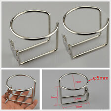 Hot! 2x Stainless Steel Boat Ring Cup Drink Holder For Car Marine Yacht Truck RV