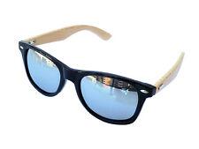 Bamboo Sunglasses Wayfarer - Gloss Black - Silver Tint
