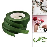 Durable Rolls Waterproof Green Florist Stem Elastic Tape Floral Flower 12mm BH