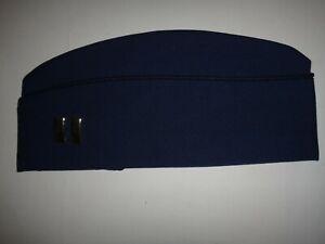 USAF Air Force CAPTAIN Rank Dark Blue Garrison Cap Hat By SAM BONK UNIFORM CAP