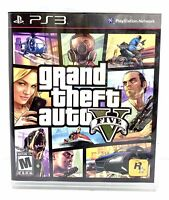 Grand Theft Auto V (Sony PlayStation 3, 2013) PS3 GTA 5 Game W/ Map Ships Fast!