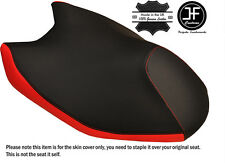 BLACK & RED CUSTOM FITS YAMAHA AEROX YQ 50 2014-2016 FRONT LEATHER SEAT COVER