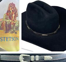 Stetson Hat Western Cowboy Felt Cap Legacy Comfort Men Sz 6 3/4 Black