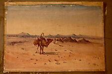 Immense et sublime aquarelle orientaliste XIX ème signée L. Mader 1909
