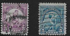 US Scott #718-19, Singles 1932 Olympics Used FVF