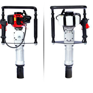 2 Stroke Gas Powered T-Post Fence Post Driver Gasoline Pile Air Cooling 2.3HP US
