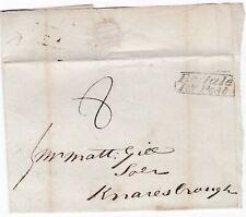 # 1827 FRAMED BEDALE PENNY POST WRAPPER JOSH BURRILL TO MATT GILL KNARESBOROUGH