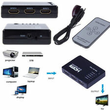 PS3 for HDTV DVD Splitter Video Switch HDMI Switcher IR Remote 1080P 5 Port