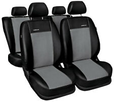 Fully tailored car seat covers for Volkswagen Caddy leatherette black/grey