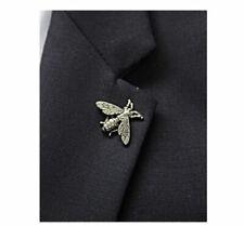 31ffaeda02f Metal Gold Silver Retro Small Bee Insect Brooch Men s Suit Coat shirt Lapel  Pin