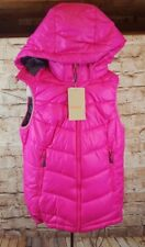 """H&M Sports Puffer Ski Snow Hoodie Vest Girl Size 4 """"New with Tags"""" Pink"""