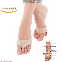 Gel Fabric Metatarsal Foot Pad Shock Absorbing PEDIMEND™ 3 PAIR Foot Supports