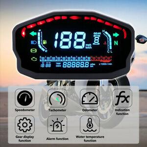 Universal Backlight LED LCD Digital Motorcycle Speedometer Odometer Tachometer