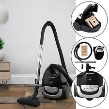 Home-Tek Powerful 800W Bagged Cylinder Vacuum Cleaner Hoover Black & Silver