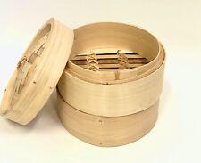 "Bamboo Steamer Set 5"" 3pcs Set (Traditional)"