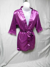 NWOT purple sheer belted robe XS/S