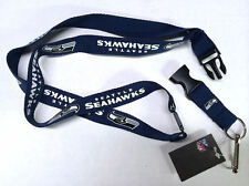 SEATTLE SEAHAWKS Breakaway Lanyard W/Keychain Clip Officially Licensed