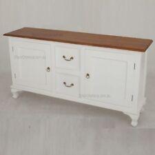 White Timber Buffet, Queen Ann, W160cm, Sideboard 2 Tone.