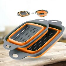 Foldable Silicone Colander Fruit Vegetable Washing Basket Strainer Kitchen Tools