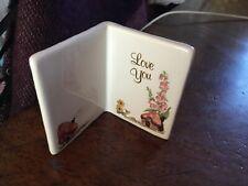 Vintage Valentines Porcelain Love Token Gift Book Gift Label Ornament