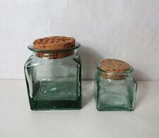 2 bocaux en verre pot bocal Vintage