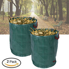 2Pcs 270L Large Garden Waste Bag Strong Rubbish Sack Waterproof Reusable