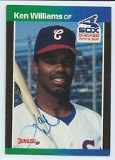 Ken Williams signed 1989 Donruss baseball card, Chicago White Sox autograph #337