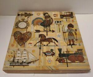 Springbok 500 Jigsaw Puzzle WEATHERVANES Vtg 1987 Hallmark Schneeberg 20x20